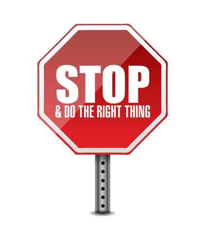 do the right thing. stop sign illustration design