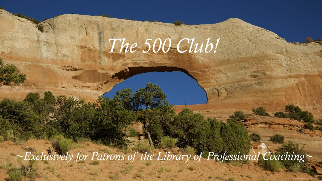 Join the 500 Club! Become a patron of the library!